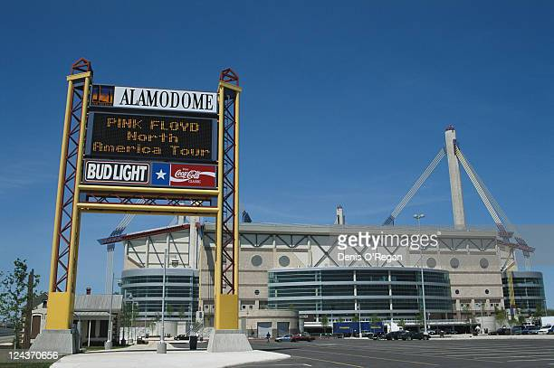 The Alamodome in San Antonio, Texas before a concert by Pink Floyd during the group's Division Bell Tour, 3rd April 1994.