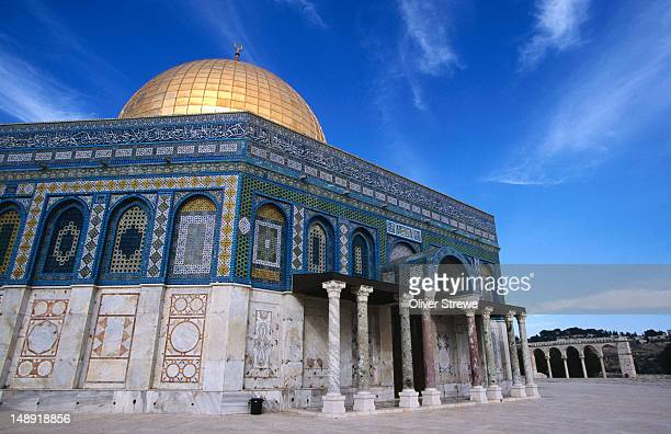 The Al-Aqsa Mosque and Dome of the Rock in the Old City of Jerusalem, the mosque houses up to 5000 praying supplicants at a time