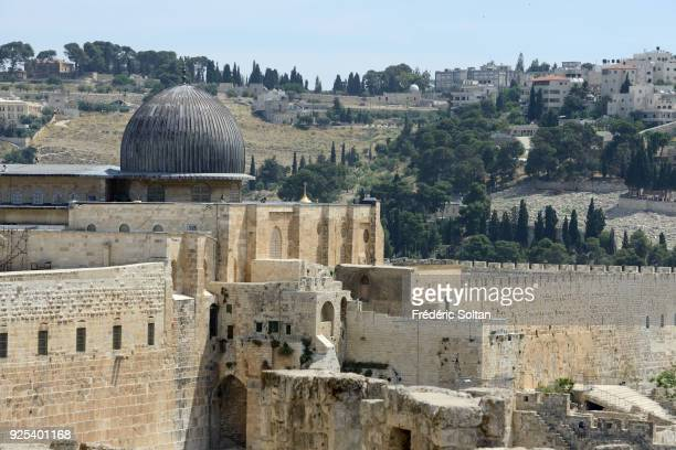 The AlAqsa Mosque in Jerusalem The AlAqsa Mosque aka AlAqsa and Bayt alMuqaddas on the esplanade of the Mosques and the Mount of Olives in the Old...