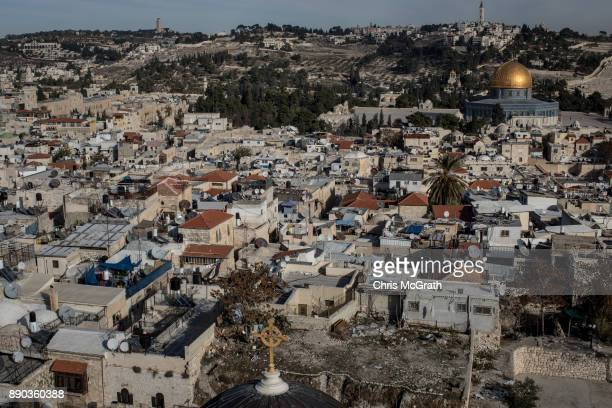 The AlAqsa Mosque is seen amongst buildings in the Old City on December 11 2017 in Jerusalem Israel In an already divided city US President Donald...