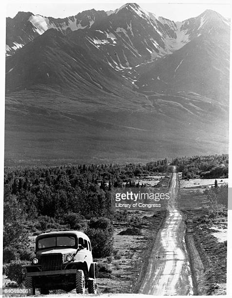 The AlaskaCanadian Highway under construction in 1942 | Location Alaska Territory USA