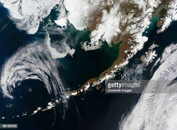 The Alaskan Peninsula and Aleutian Islands.
