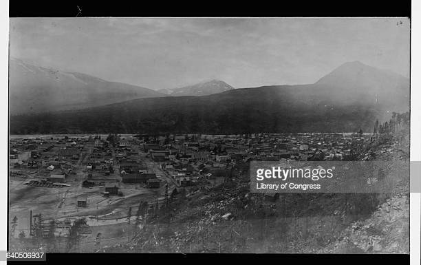 The Alaskan town of Skagway in 1899 at the height of the Klondike Gold Rush