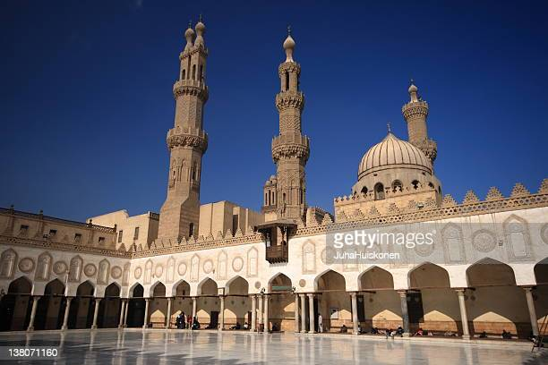 the al-azhar mosque in cairo, egypt - cairo stock pictures, royalty-free photos & images