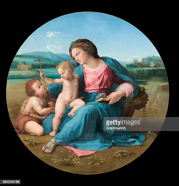 The Alba Madonna circa 1510 From the National Gallery of Art Washington DC Oil on panel mounted on canvas