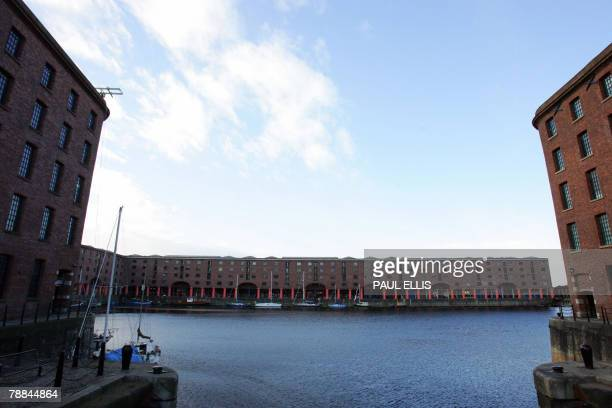 The Albert Dock are in Liverpool northwest England 09 January 2008 which is an example of the city's regeneration Unitl the mid1980's the former dock...