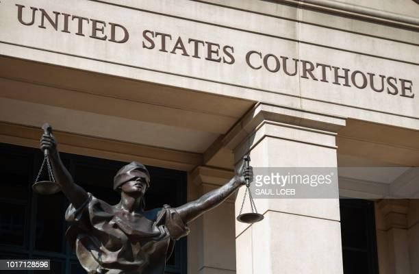 The Albert V Bryan US Courthouse where the bank fraud trial of former Trump campaign manager Paul Manafort is taking place is seen in Alexandria...