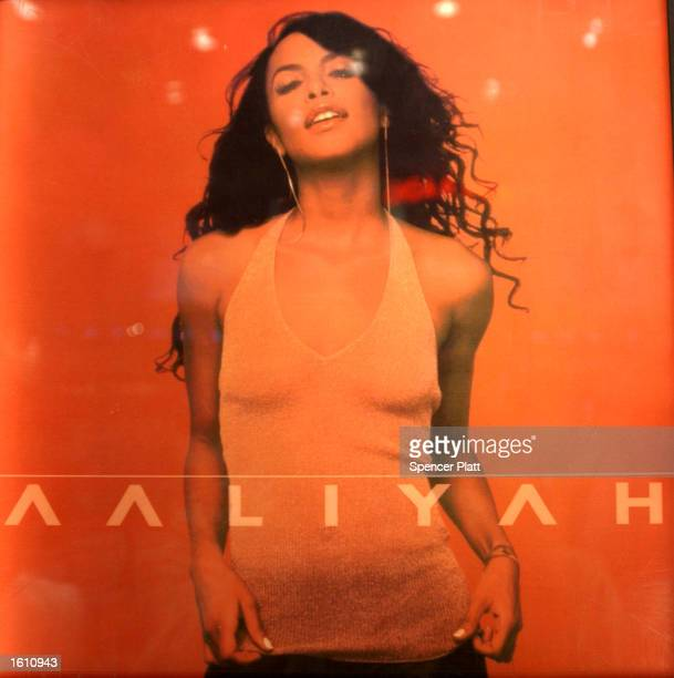 The album cover of former rhythmandblues singer and actress Aaliyah is on display at a listening station August 27 2001 at a Virgin Megastore in New...