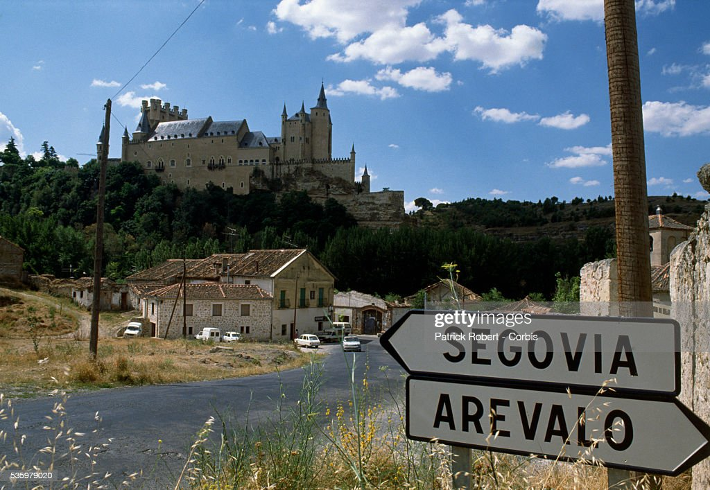 The Alcazar at Segovia can be seen from the road approaching the city. Segovia is home to professional cyclist Pedro Delgado.