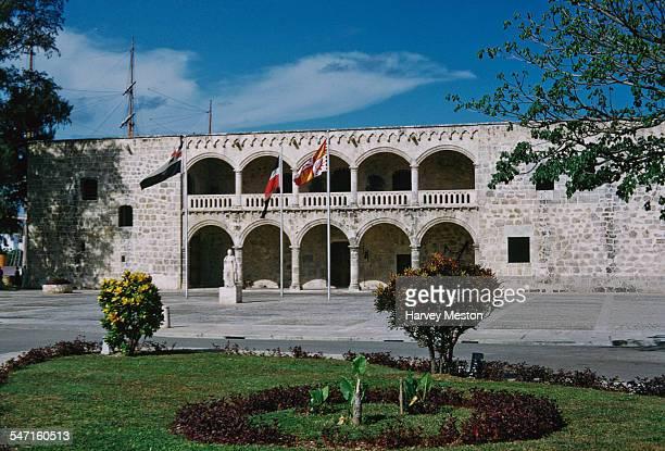 The Alcazar De Colon or Columbus Alcazar in Ciudad Trujillo in the Dominican Republic 1960 It is the oldest Viceregal residence in America