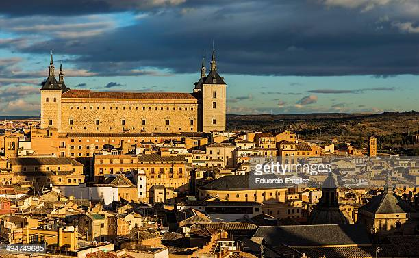 The Alcazar of Toledo is a stone fortification.