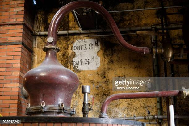 The alembic of the distillery Guy Pinard Organic farming Cognac and Pineau des Charentes producer