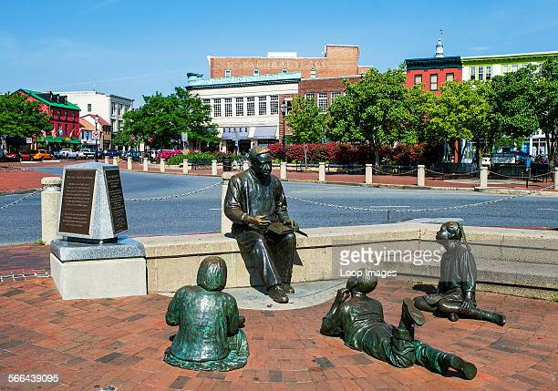 The Alex Haley Memorial sculpture in Annapolis