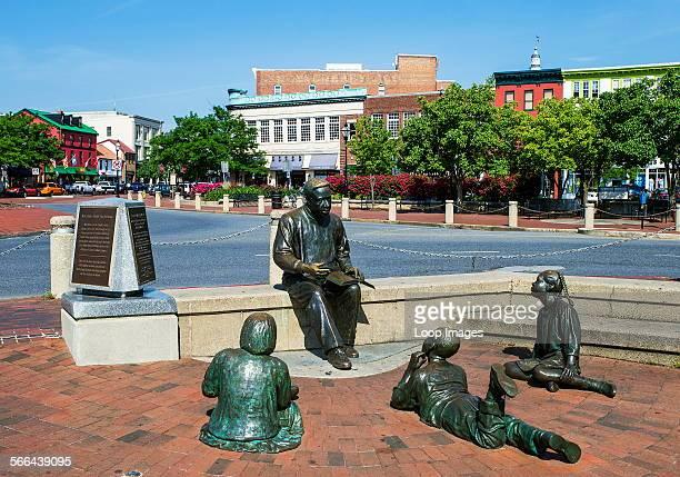 The Alex Haley Memorial sculpture in Annapolis