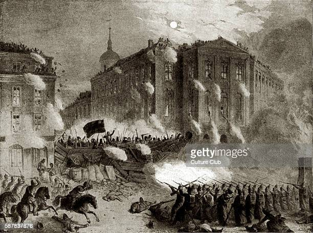 The Alexander Square barricade Berlin 18 March 1848