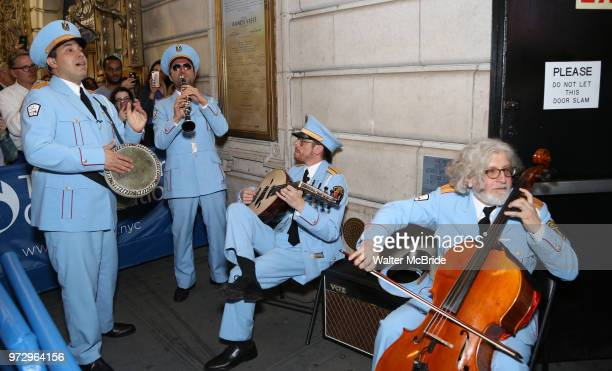 The Alexandria Ceremonial Police Orchestra during 'The Band's Visit' postshow jam celebrating the 10 time Tony Award winning best musical at the...