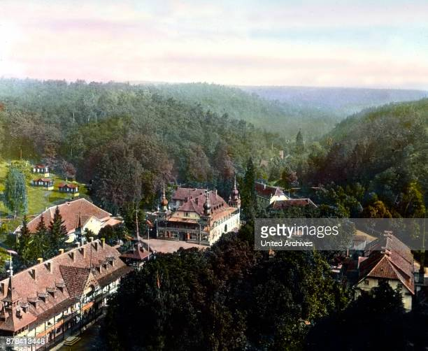 The Alexisbad spa resort in the Selke valley in the Harz region