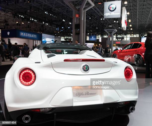 The Alfa Romeo 4C Spider at the New York International Auto Show in New York City The New York International Motor Show is being hosted in the Jacob...