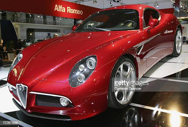 The Alfa Romeo 8C Competizione is revealed at the Australian International Motorshow October 26 2006 in Sydney Australia The motorshow runs for ten...