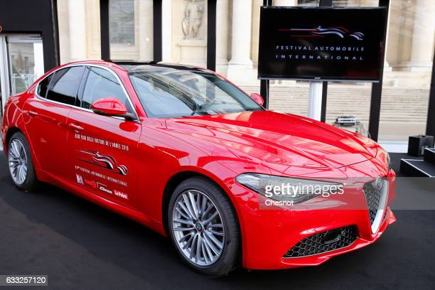 The Alfa Romeo Giulia is elected 'Most Beautiful Car of the Year'2016 during the 32nd International Festival Automobile at 'Hotel des Invalides' on...