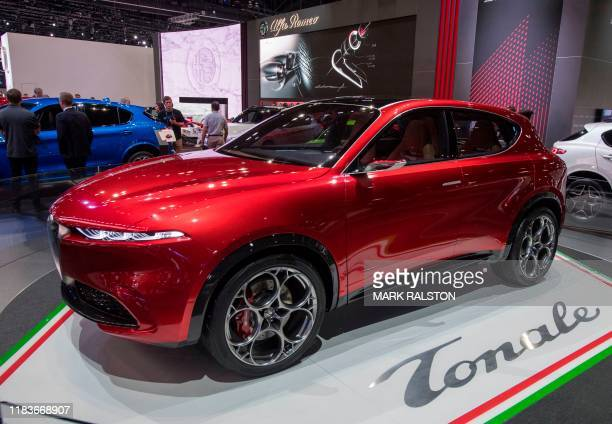 The Alfa Romeo 'Tonale' concept car on display at the 2019 Los Angeles Auto Show in Los Angeles, California on November 20, 2019.