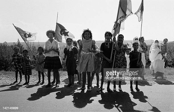 The Algerian are celebrating its independence on July 3 1962 in Algiers Algeria