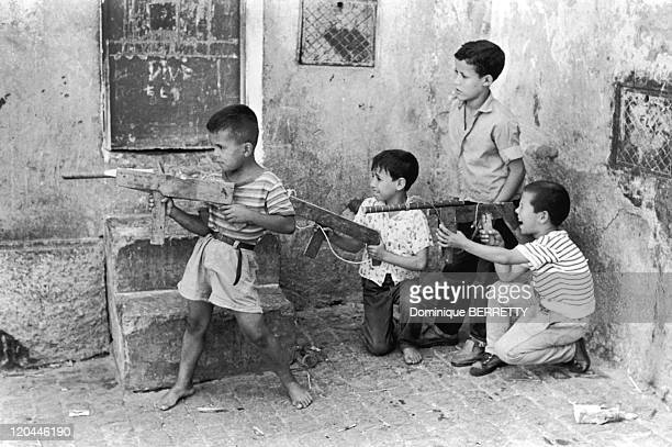 The Algerian War In Algeria - Young Algerians playing war.