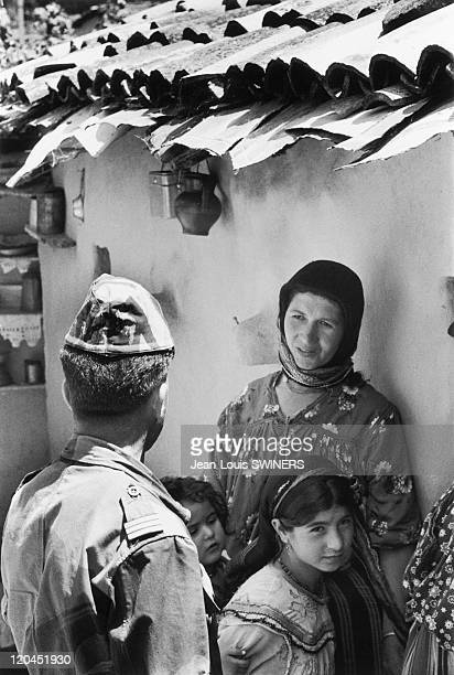 The Algerian War in Douera Algeria in 1960 The day of a French soldier in Douera
