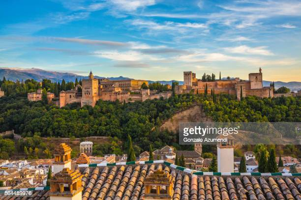 The Alhambra and Albaicin at Granada Spain