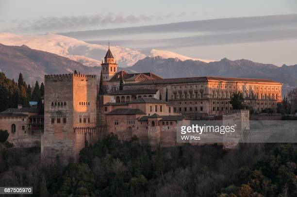 The Alhambra in Granada at sunset