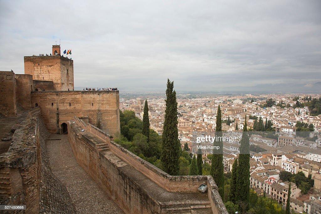 Spain - Granada - The Alhambra Palace looking towards Albaicin : News Photo