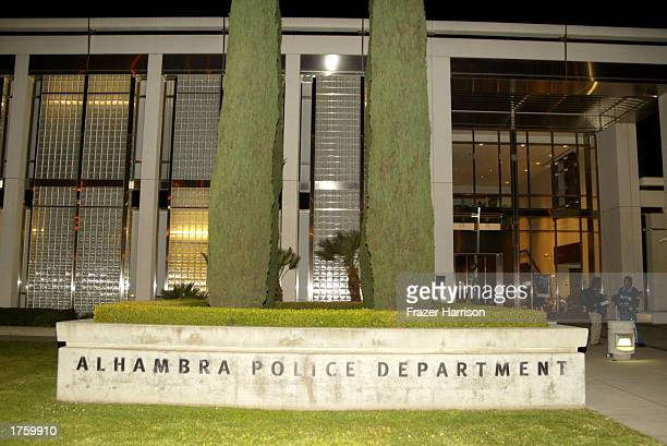 The Alhambra Police Department is seen on February 3 2003 in Alhambra California Legendary music producer Phil Spector was arrested on February 3...