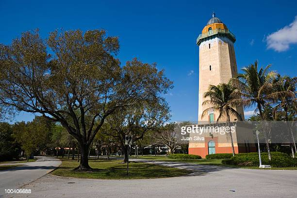 the alhambra water tower, coral gables, florida - coral gables stock pictures, royalty-free photos & images