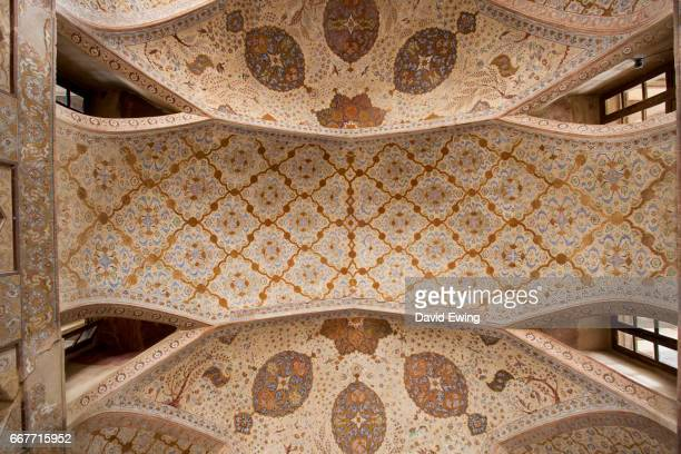 the ali qapu palace at naqsh-e-jahan square in esfahan, iran - iranian culture stock photos and pictures