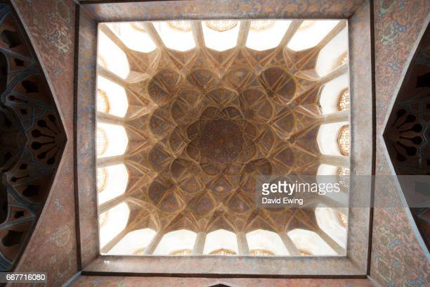 the ali qapu palace at naqsh-e-jahan square in esfahan, iran - david ewing stock pictures, royalty-free photos & images