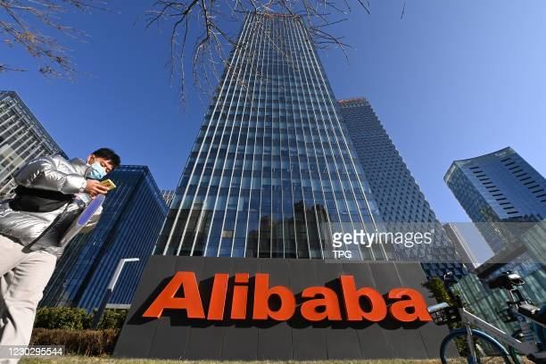 The Alibaba Group gets administrative penalty for the violation of China's anti-monopoly law on 24th December, 2020 in Beijing,China