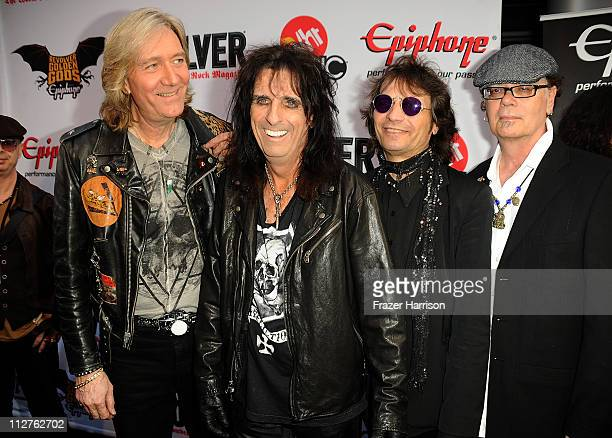 The Alice Cooper band arrive at the 3rd Annual Revolver Golden God Awards at the Club Nokia on April 20 2011 in Los Angeles California
