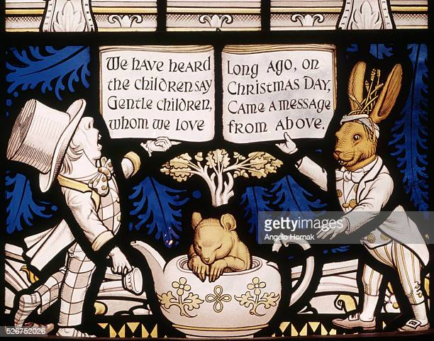 The Alice Window is a memorial to Lewis Carroll the author of the children's book Alice in Wonderland This pane depicts the Mad Hatter the March Hare...