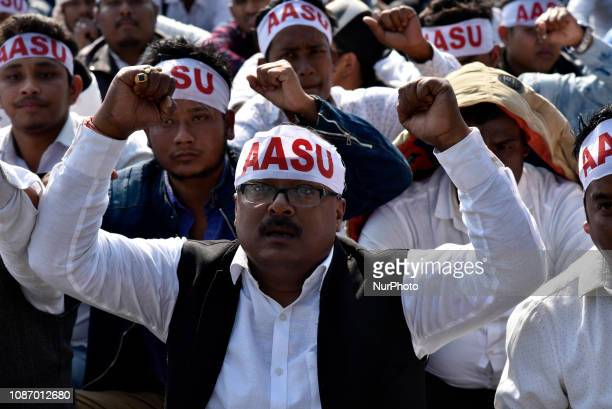 The All Assam Students Union organises a mass agitation Bajra Ninad in protest against the much debated Citizenship Bill 2016, proposal to provide...
