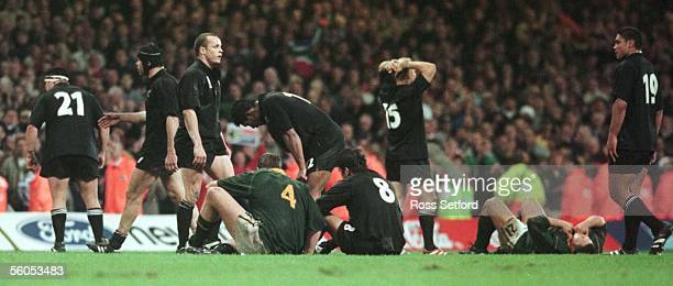 The All Blacks are exhausted after their defeat by South Africa in the 3rd and 4th play off of the Rugby World Cup at the Millenium Stadium, Cardiff,...