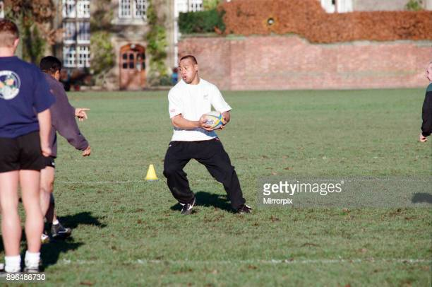 The All Blacks training at Rugby School. Pictured, Jonah Lomu, 2nd December 1997.