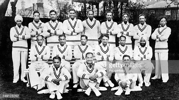 The All India cricket team in London 1st May 1932 captained by The Maharaja of Porbandar Rana Saheb Shri Sir Natwasinhji Bhavsinhji Back row Lall...