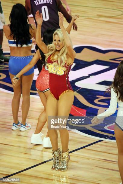 The All Star dance team is seen during the NBA AllStar Game as part of the 2017 NBA All Star Weekend on February 19 2017 at the Smoothie King Center...