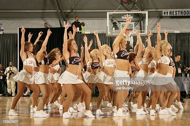 The All Star Dance Team performs during the McDonald's NBA AllStar Celebrity Game Presented by 2K Sports at NBA Jam Session Center Court on February...