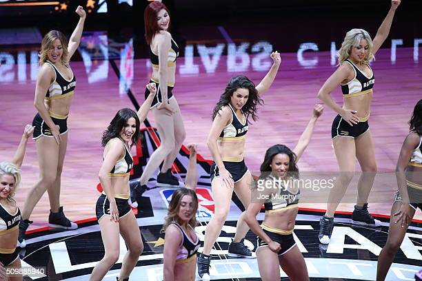The All Star dancers before the World Team face the USA Team for the World Team for the BBVA Compass Rising Stars Challenge as part of the 2016 NBA...