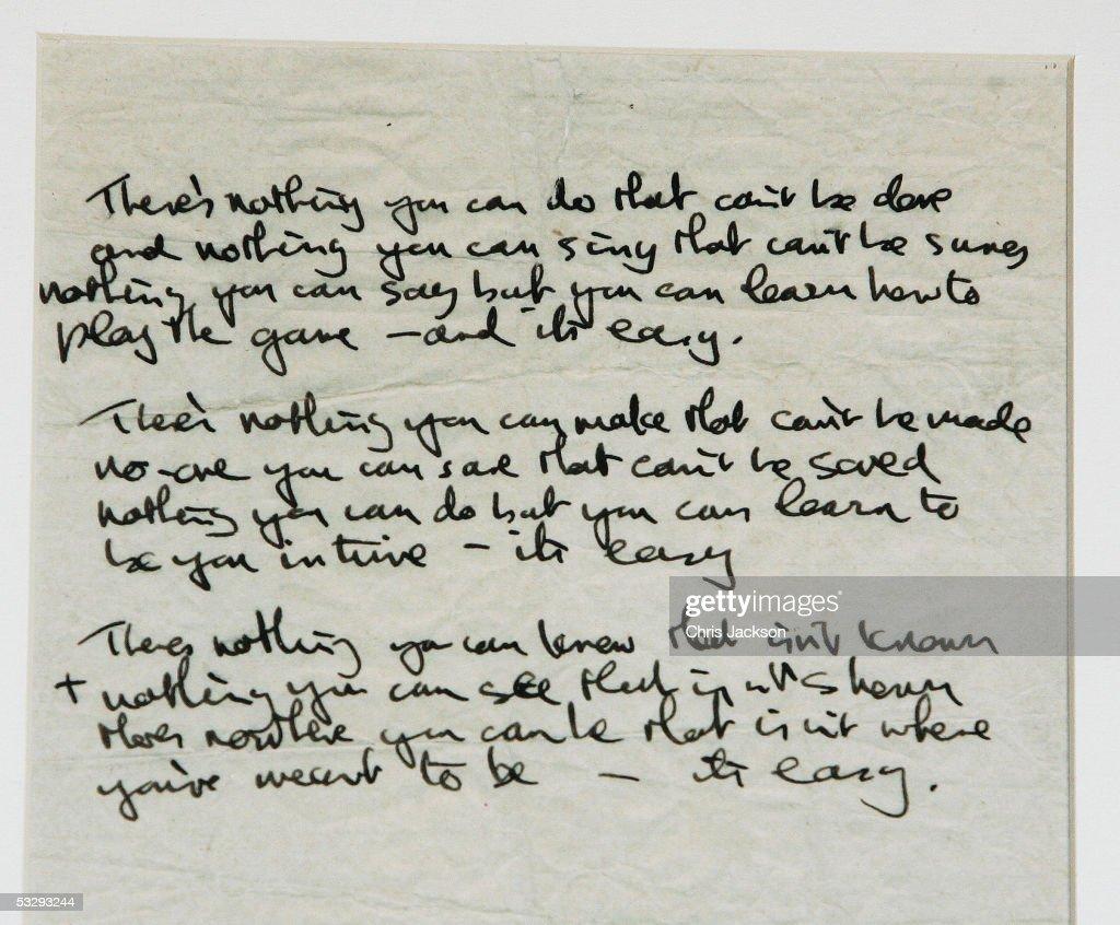 John Lennon Auction - Press Preview : News Photo