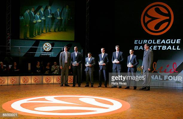 The AllEuroleague first team was formed by Terrell McIntyre of Montepaschi Siena at point guard Trajan Langdon of CSKA at shooting guard Ramunas...