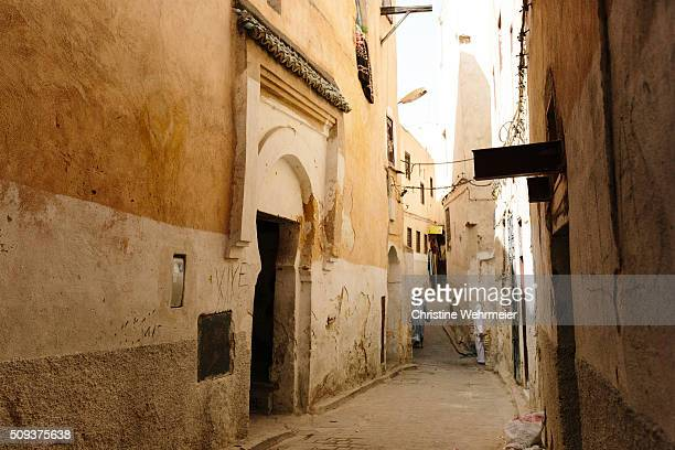the alleys of fez medina, morocco - christine wehrmeier stock photos and pictures