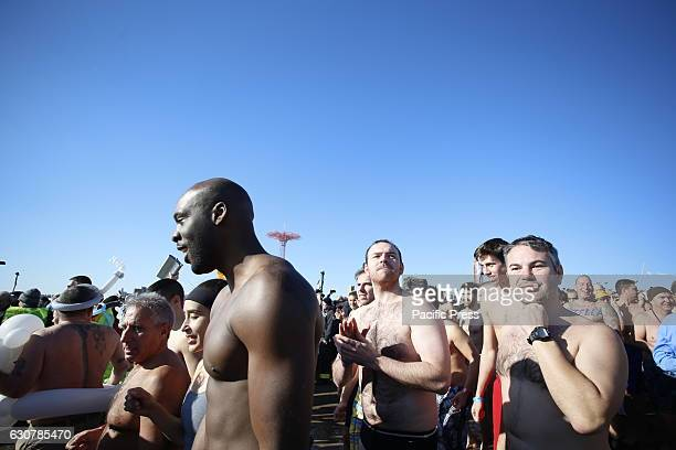 The Alliance for Coney Island sponsored its annual New Year's Day Polar Bear Plunge off the Coney Island beach The event raises funds for Camp...
