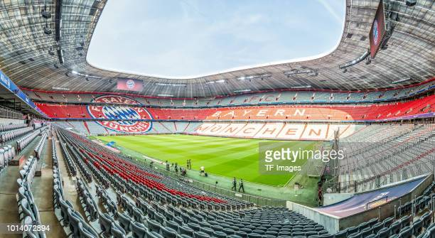 The Allianz Arena is seen from the inside prior to the friendly match between Bayern Muenchen and Manchester United at Allianz Arena on August 5 2018...